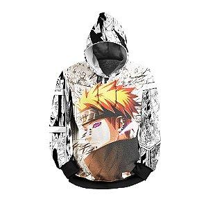 Moletom Estampado 3D Canguru Flanelado Naruto Pain com Capuz