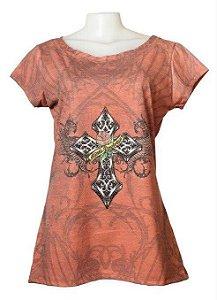 T-Shirt Cruz com Asas