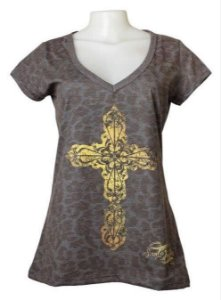 T-Shirt Cruz Dourada