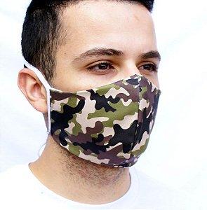 Máscara Facial com Estampa Militar Camuflada