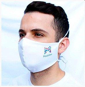 200 Máscaras Brancas Personalizadas com Logotipo (4x4cm) de Sua Empresa