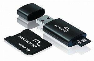 Pen Drive 3 em 1 USB MicroSD Card c/ Adaptador SD 32GB