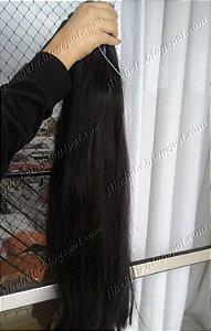 Cabelo Liso Castanho 70 cm (25gr)