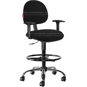 Cadeira Caixa Alta Portaria Recepção Tecido Com Braços Varias Cores Cb36