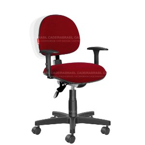 Cadeira Portaria Recepção Tecido Com Braços Ergonômica Varias Cores Cb38