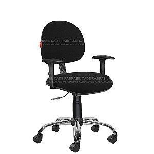 Cadeira Escritório Com Braços Executiva Tecido Várias Cores Cb39