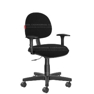 Cadeira Escritório Executiva Com Braços Tecido Várias Cores Cb40