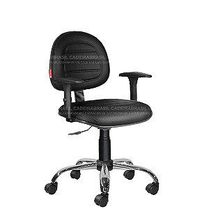 Cadeira Escritório Costura Executiva Braços Várias Cores Cb74