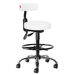 Cadeira Mocho Alto Ergonômico Estética, Fisioterapia, Odontologia Slim Cadeira Brasil CB 1546