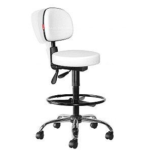 Cadeira Mocho Alto Ergonômico Estética, Fisioterapia, Odontologia Secretária Cadeira Brasil CB 1636