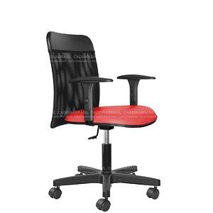 Cadeira Escritório Executiva - Com Braços - Base Aço Capa - New Tela CB 2012