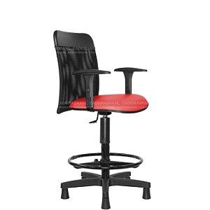 Cadeira Caixa Alta - Com Braços - Base Aço Capa - New Tela CB 2020