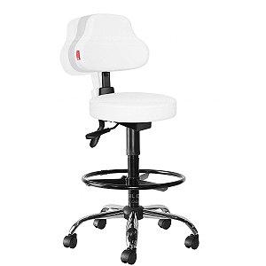 Cadeira Mocho Alto Ergonômico Estética, Fisioterapia, Odontologia Plus Cadeira Brasil CB 1596