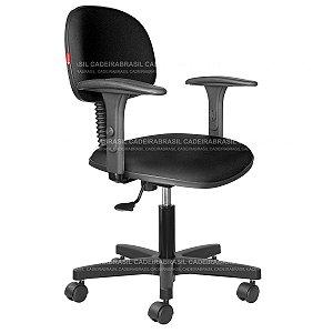 Cadeira Secretária Giratória - Com Braços - Base Aço Capa - CB 1850