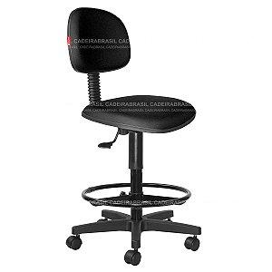 Cadeira Caixa Alta Secretária - Giratória - Base Aço Capa - CB 1856