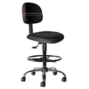 Cadeira Caixa Alta Secretária Giratória - Base Cromada - CB 1888