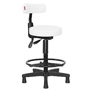 Cadeira Mocho Alto Ergonômico Estética, Fisioterapia, Odontologia Slim Cadeira Brasil CB 1556