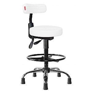 Cadeira Mocho Alto Ergonômico Estética, Fisioterapia, Odontologia Slim Cadeira Brasil CB 1558