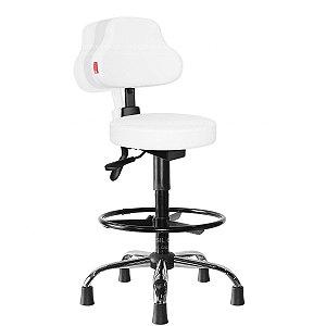 Cadeira Mocho Alto Ergonômico Estética, Fisioterapia, Odontologia Plus Cadeira Brasil CB 1587