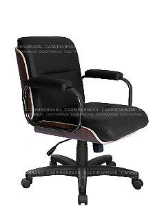Cadeira Diretor Giratória - Base Aço Capa - Wooden CB 408