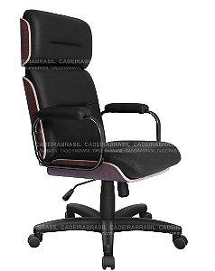 Cadeira Presidente Giratória com Apoio de Cabeça - Base Aço Capa - Wooden CB 406