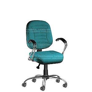 Cadeira Escritório Diretor Giratória com Braços e Base Cromada Firenze CB 502