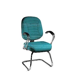 Cadeira Fixa Diretor com Braços e Base Cromada Firenze CB 503