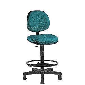 Cadeira Caixa Executiva Giratória com Base Aço Capa e Apoio de Pés Firenze CB 506