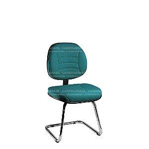 Cadeira Fixa Executiva com Base Cromada Firenze CB 508