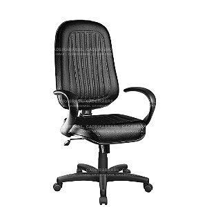 Cadeira Escritório Presidente Giratória com Braços e Base Aço Capa Milão CB 301