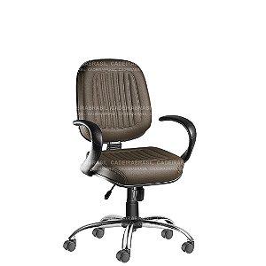 Cadeira Escritório Diretor Giratória com Braços e Base Cromada Milão Plus CB 352