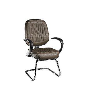 Cadeira Fixa Diretor com Braços e Base Cromada Milão Plus CB 353