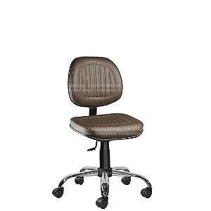 Cadeira Executiva Giratória com Base Cromada Milão Plus CB 355
