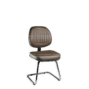 Cadeira Fixa Executiva com Base Cromada Milão Plus CB 358