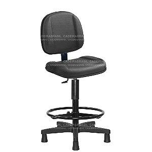 Cadeira Caixa Executiva Gomada com Base Aço Capa e Apoio de Pés Concert CB 606