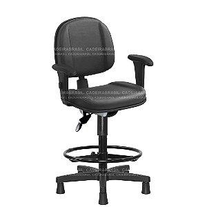 Cadeira Caixa Ergonômica Executiva Gomada com Braços Reguláveis e Base Aço Capa Concert CB 607