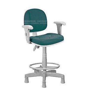 Cadeira Caixa Ergonômica Executiva Gomada com Braços Reguláveis e Base Aço Capa Concert Plus CB 657