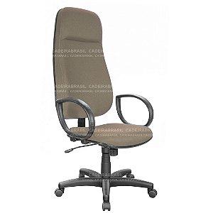 Cadeira Escritório Presidente Extra Giratória com Braços e Base Aço Capa Ravan CB 200
