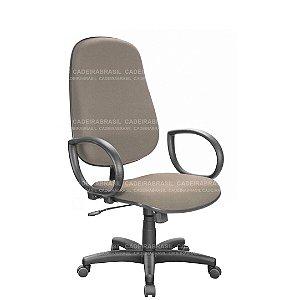 Cadeira Escritório Presidente Giratória com Braços e Base Aço Capa Ravan CB 201