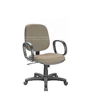 Cadeira Escritório Diretor Giratória com Braços e Base Aço Capa Ravan CB 202
