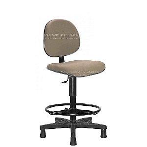 Cadeira Caixa Executiva Giratória com Base Aço Capa e Apoio de Pés Ravan CB 206