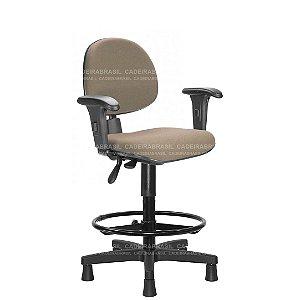 Cadeira Caixa Ergonômica Executiva com Braços Reguláveis e Base Aço Capa Ravan CB 207
