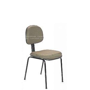 "Cadeira Fixa Secretária 4 Pés com ""L"" Sanfonado Ravan CB 210"