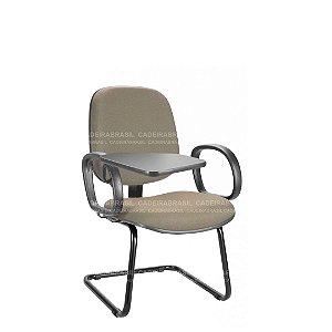 Cadeira Universitária Diretor Fixa com Braços Escamoteável Ravan CB 216
