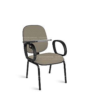 Cadeira Universitária Diretor Fixa 4 Pés com Braços Escamoteável Ravan CB 217