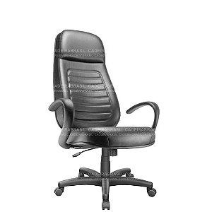 Cadeira Escritório Presidente Extra Giratória com Braços e Base Aço Capa Ravan Plus CB 250
