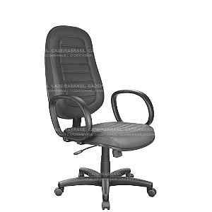 Cadeira Escritório Presidente Giratória com Braços e Base Aço Capa Ravan Plus CB 251