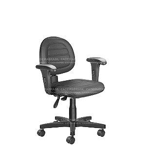 Cadeira Ergonômica Executiva Giratória com Braços Reguláveis e Base Aço Capa Ravan Plus CB 254