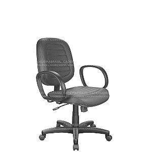Cadeira Escritório Diretor Giratória com Braços e Base Aço Capa Ravan Plus CB 252