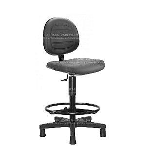 Cadeira Caixa Executiva Giratória com Base Aço Capa e Apoio de Pés Ravan Plus CB 256